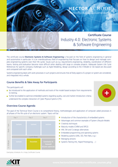 Bild Certificate Course Flyer Electronic Systems & Software Engineering