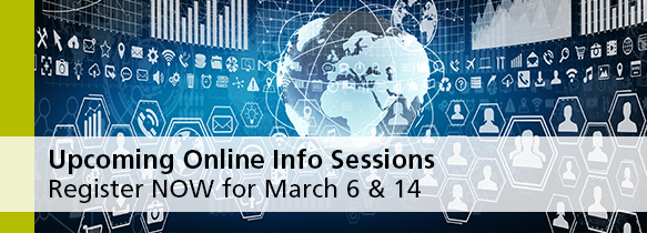 Upcoming Online Info Sessions