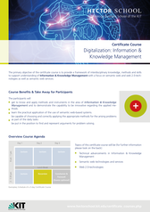 Bild Certificate Course Information and Knowledge Management