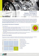 Certificate Course Hybrid Electric Vehicles Flyer